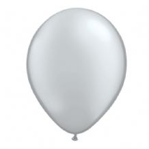 "Qualatex 9 inch Balloons - Silver 9"" Balloons (Metallic 100pcs)"
